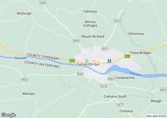 Map for 14 Deerpark Close, Carrick On Suir, Co Tipperary