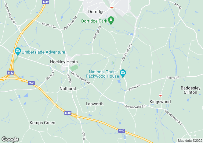 Map for Fetherston Grange, Hockley Heath, B94 6PX