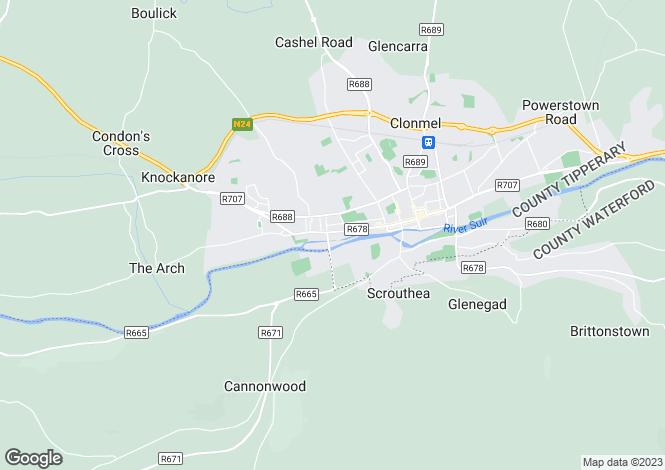 Map for Irishtown, Clonmel, Co Tipperary