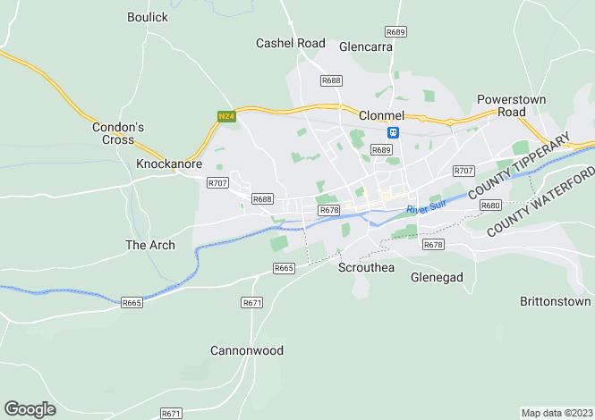 Map for Irishtown Upper , Clonmel, Tipperary