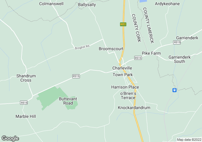 Map for Escriva, Smiths Road, Charleville, Cork
