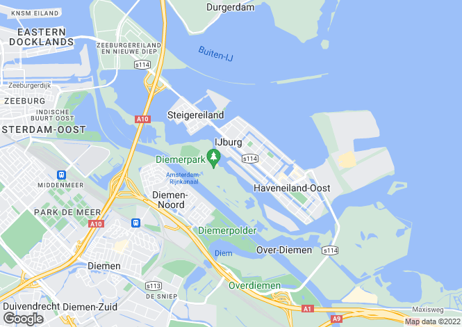 Map for Noord-Holland, Amsterdam