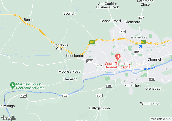 Map for 36 Ard Aoibhinn, Clonmel, Co. Tipperary