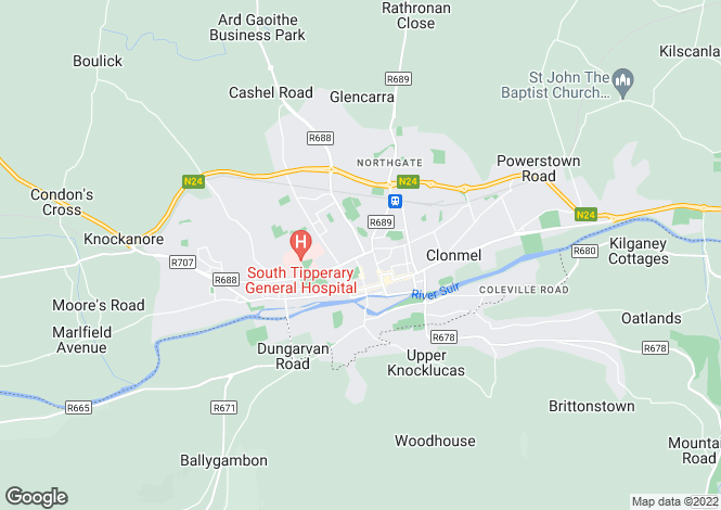 Map for 57 Queen Street, Clonmel, Tipperary