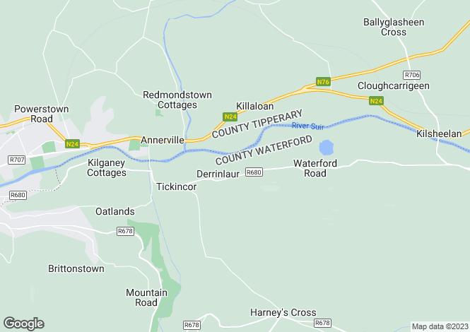Map for Derrinlaur Lower , Clonmel, Co. Tipperary