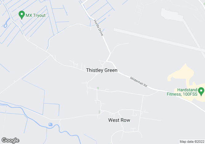 Map for Beeches Road, West Row