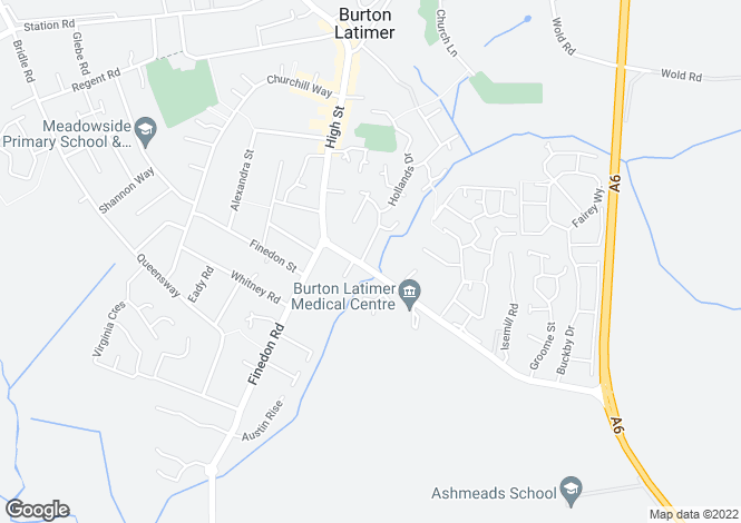 Map for Thornberry at Latimer Gardens, Higham Road,
