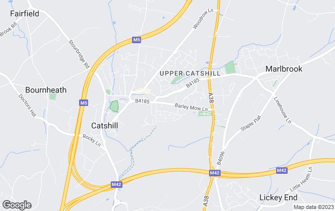 Map for Arch Estates Ltd, Catshill