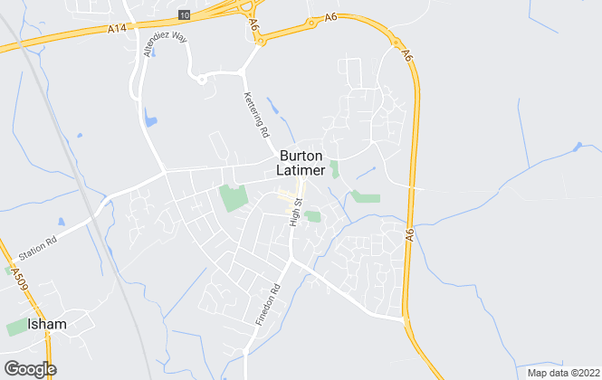 Map for Oscar James, Burton Latimer