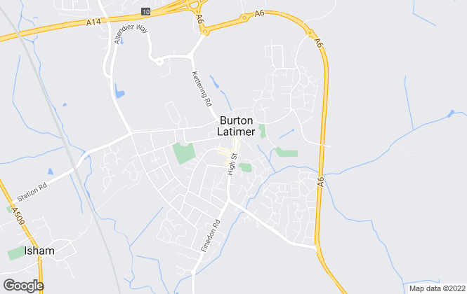 Map for Carter Williams Ltd, Burton Latimer