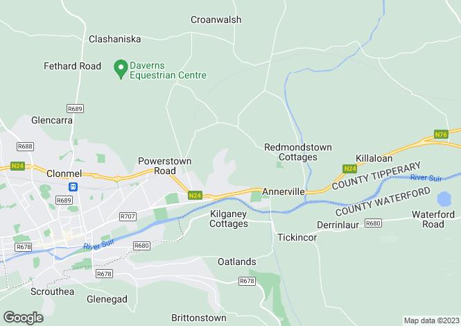 Map for 14 Moangarriff, Clonmel, Clonmel, Co. Tipperary, E91 DW95