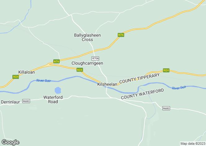 Map for Ivowen House, Kilsheelan, Clonmel, Co Tipperary