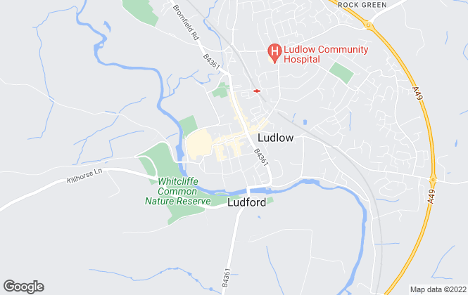 Map for Balfours LLP, Ludlow