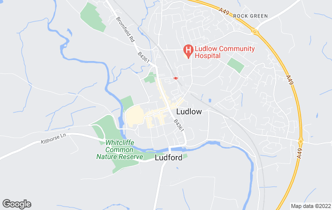 Map for Nock Deighton, Ludlow