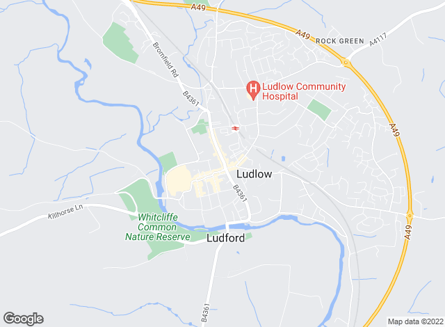 Map for Nock Deighton, Ludlow