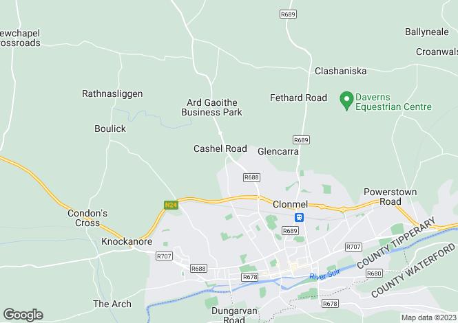 Map for 1 Barr An Aird, Ard Gaoithe, Clonmel, Tipperary