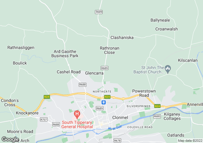 Map for Unit 4, Crann Ard Business Centre, Fethard Road, Clonmel, Tipperary