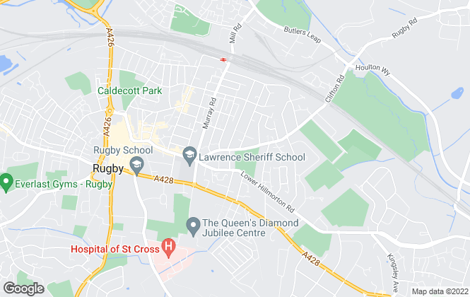 Map for Amethyst Residential Letting, Rugby