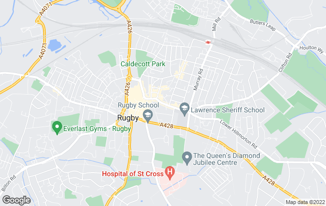 Map for Complete Estate Agents, Rugby
