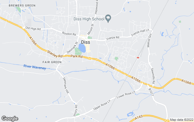 Map for Parson Estate Agents, Diss