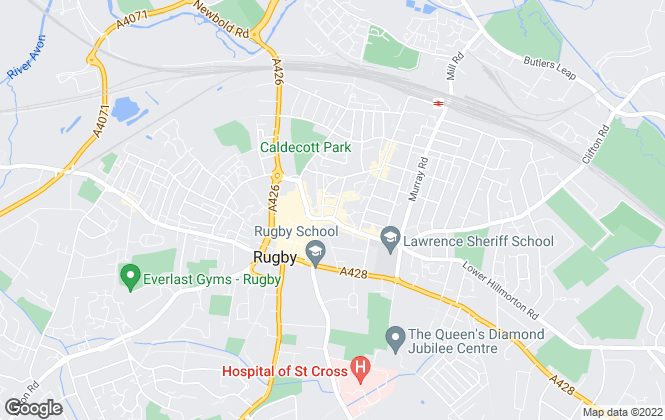 Map for Picklescott Homes, Rugby