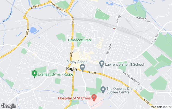 Map for Archer Bassett , Rugby