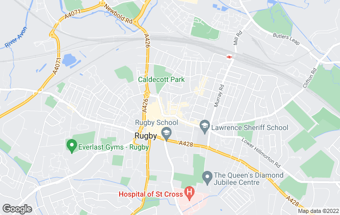 Map for Shipways, Rugby