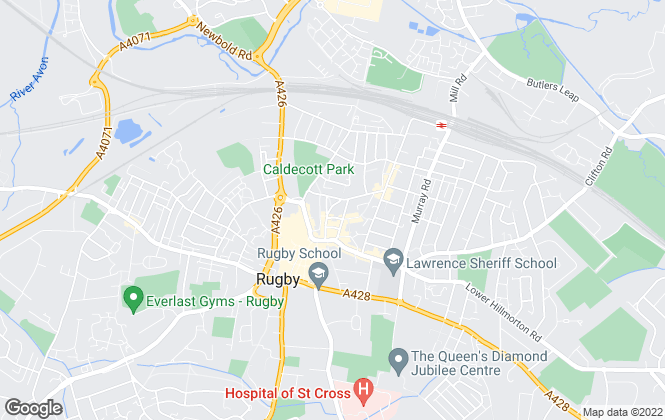 Map for Red Brick Lettings Rugby, Rugby