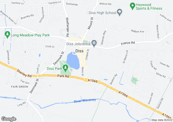 Map for Chapel Street, Diss
