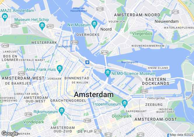 Map for Amsterdam, Noord-Holland