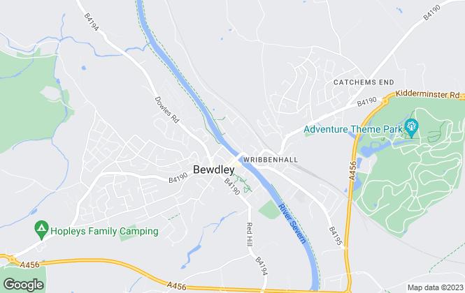 Map for Allan Morris Wyre Forest Regional Property Centre, Bewdley
