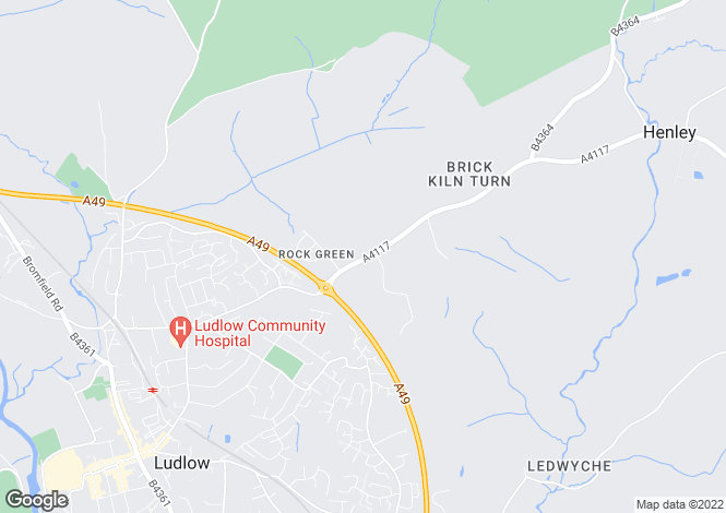 Map for The Nelson Inn, Rock Green, Ludlow, Shropshire