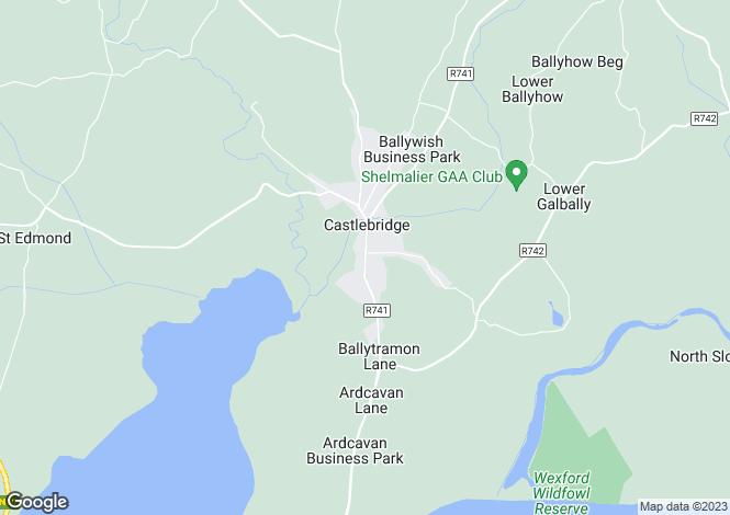 Map for Castlebridge, Wexford