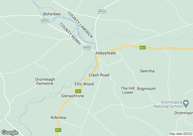 Map for Abbeyfeale, Limerick
