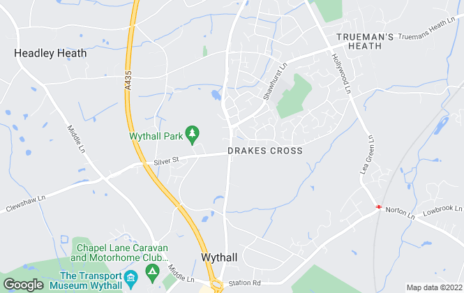Map for Melvyn Danes, Wythall