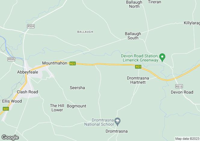 Map for Barnard, Abbeyfeale, Co. Limerick, V94 RDN0