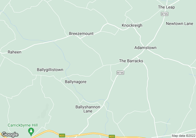 Map for Adamstown, Wexford