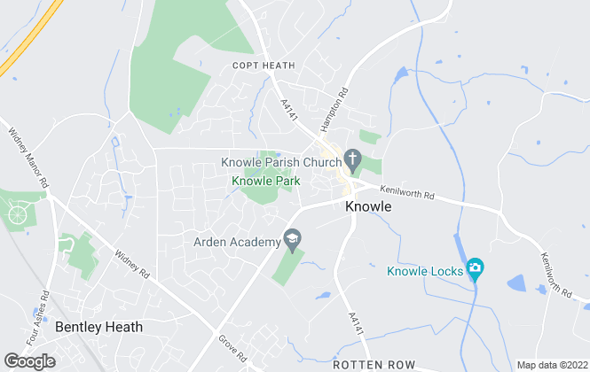 Map for EB&P, Knowle