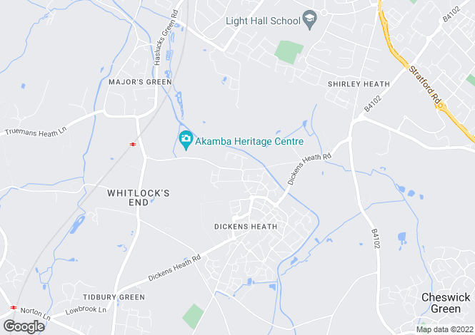 Map for Tythe Barn Lane, Dickens Heath