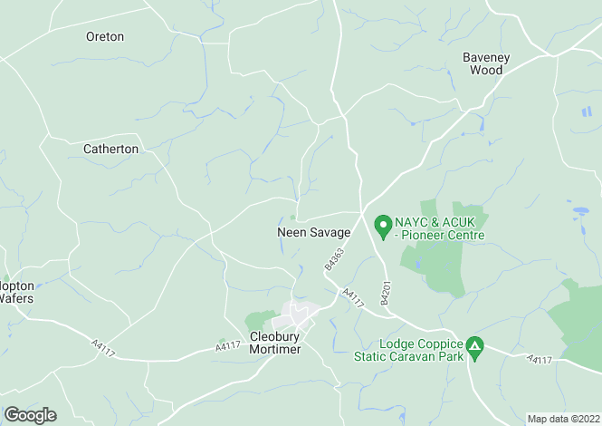 Map for Neen Savage, Cleobury Mortimer, Worcestershire, DY14