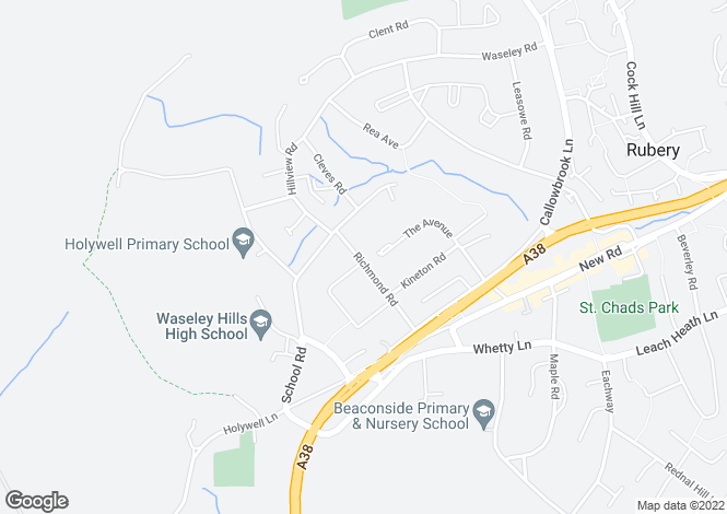 Map for Richmond Road, Rubery,Rednal, Birmingham B45