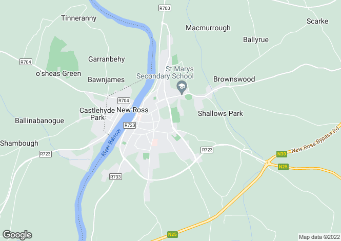 Map for New Ross, Wexford