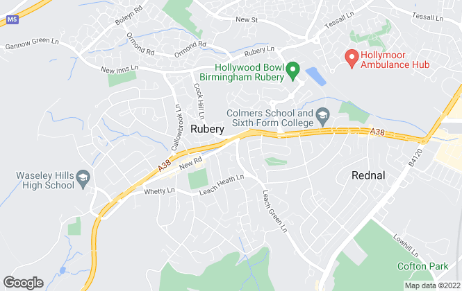 Map for Dunedin Lettings Ltd, Rubery