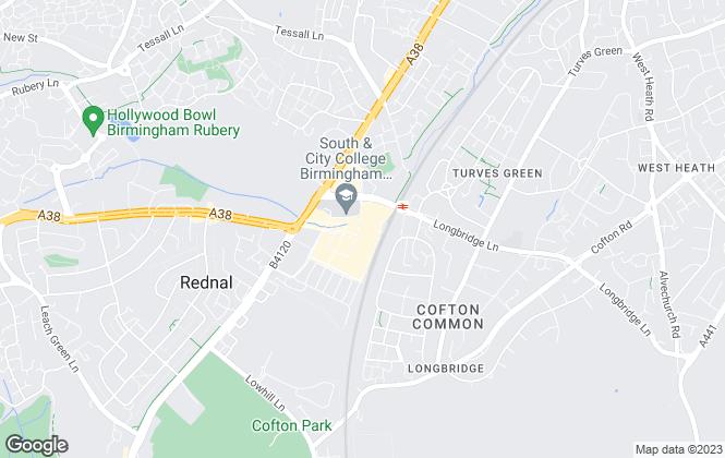 Map for Bairstow Eves Lettings, Longbridge Lettings