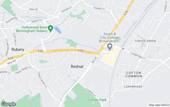 Map for Property Genie, Birmingham