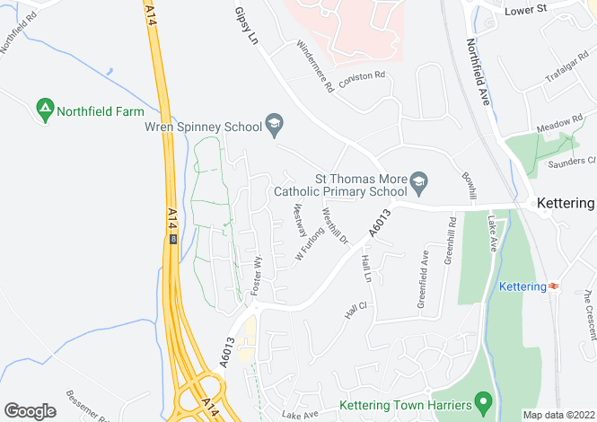 Map for West Way, Kettering