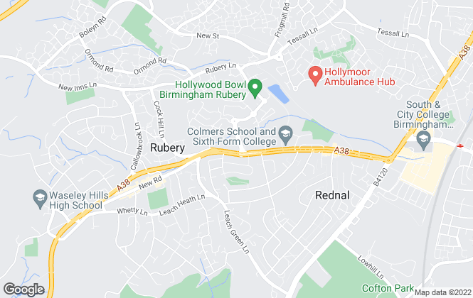 Map for Elliot Laurence, Rubery