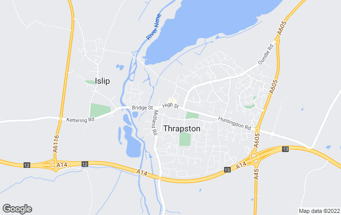 Map for Sharman Quinney, Thrapston