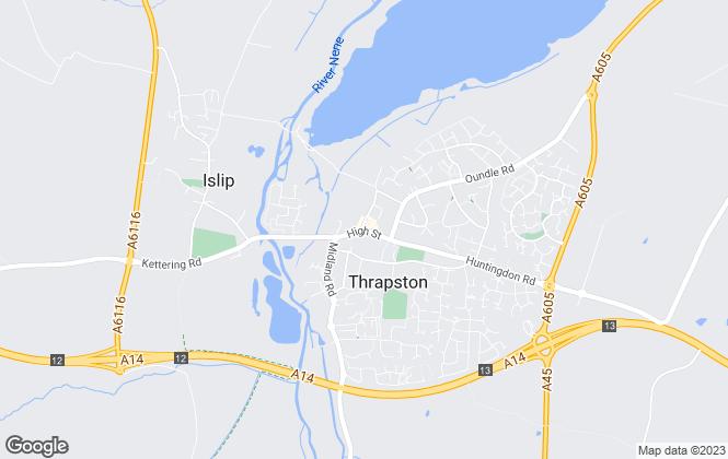 Map for Bletsoe Estate Agents, Thrapston
