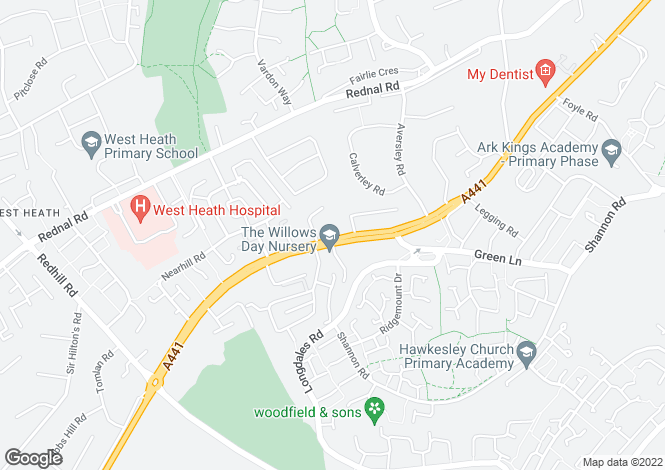 Map for Redditch Road, West Heath, Birmingham, B38 8PR